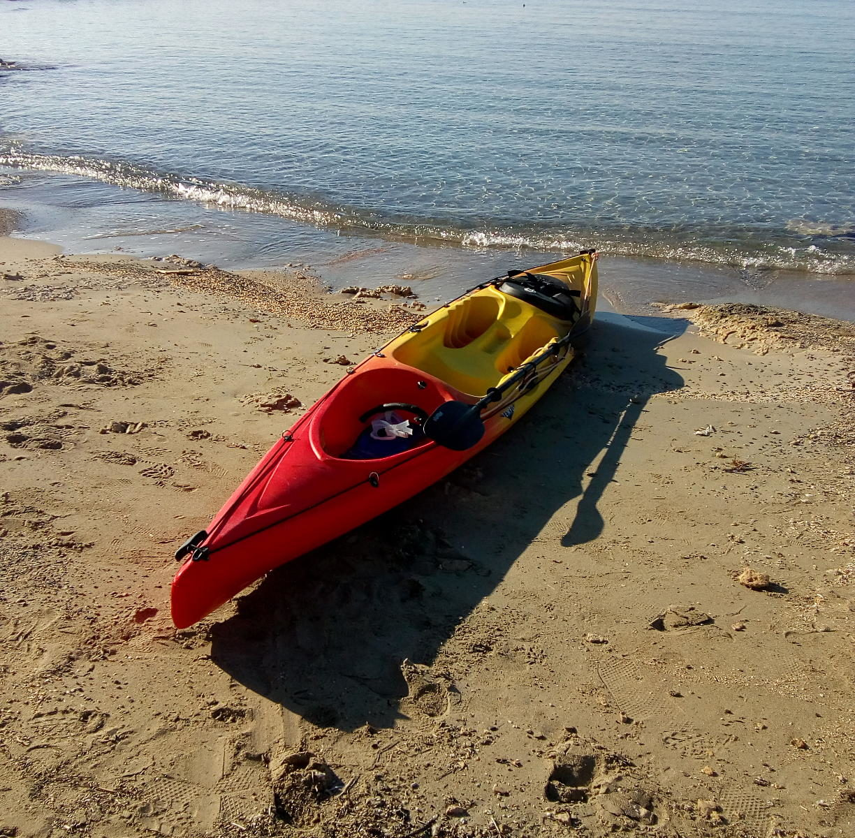 Kayak in Elafonissi
